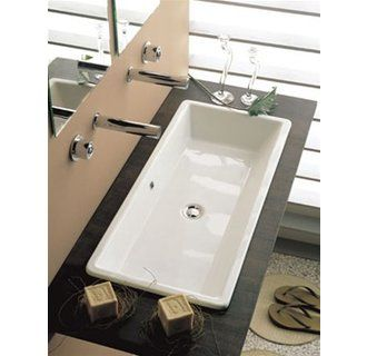 Cool long sink instead of two sinks for the master bath possibly.
