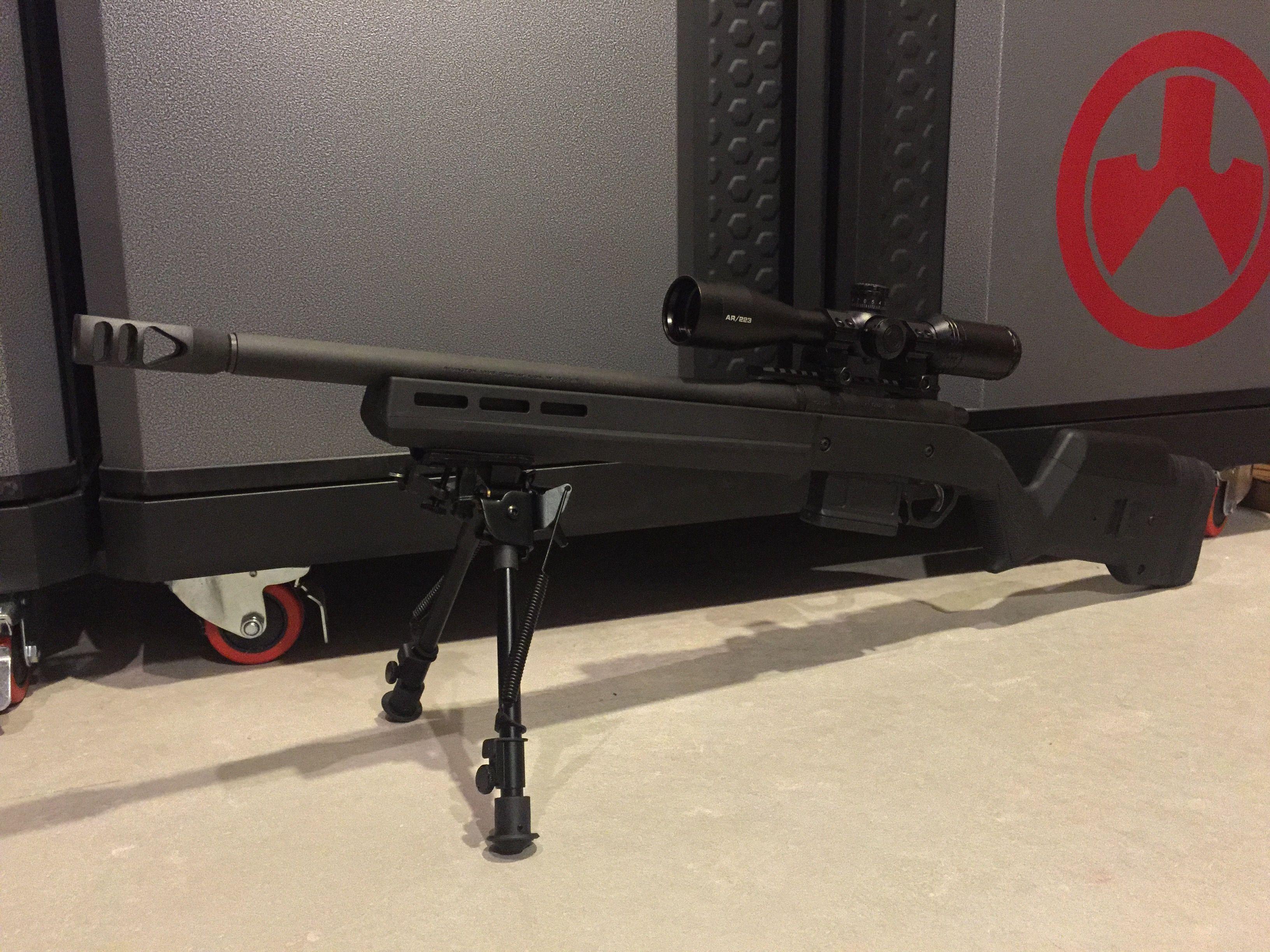 Remington 700 Sps 308 7 62 Magpul Hunter Stock Magpul Mag Well And