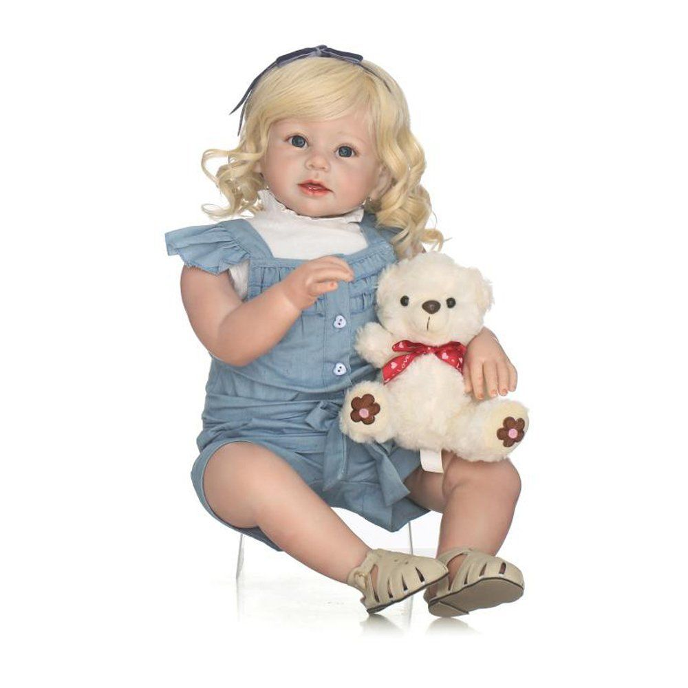 Amazon.com  Soft Silicone Realistic Reborn Toddlers Girls Baby Dolls 28