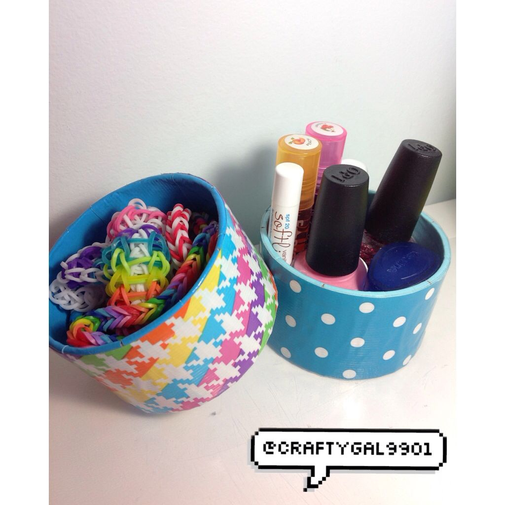 Duct Tape Roll Containers Duct Tape Crafts Duct Tape
