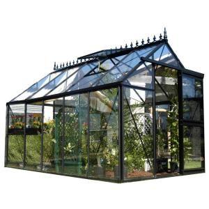 Exaco Junior Victorian 8 Ft X 12 5 Ft Greenhouse J Vic24 S The Home Depot Victorian Greenhouses Greenhouse Greenhouse Kit