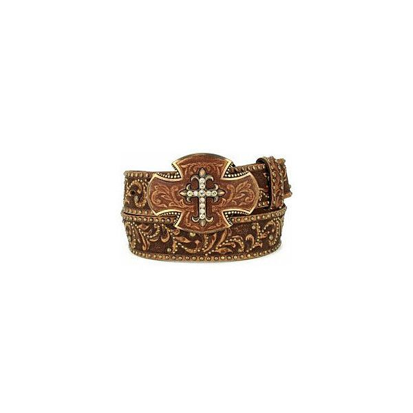 Brown Southern Cross Belt, Unassigned Items at Maverick Western Wear. found on Polyvore