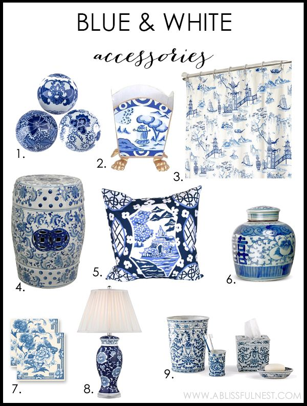 Blue And White Accessories By A Blissful Nest