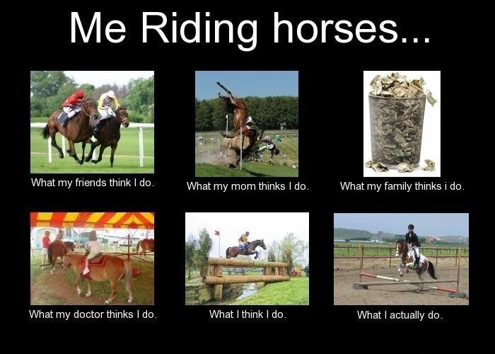 Me Riding Horses...Interpretations