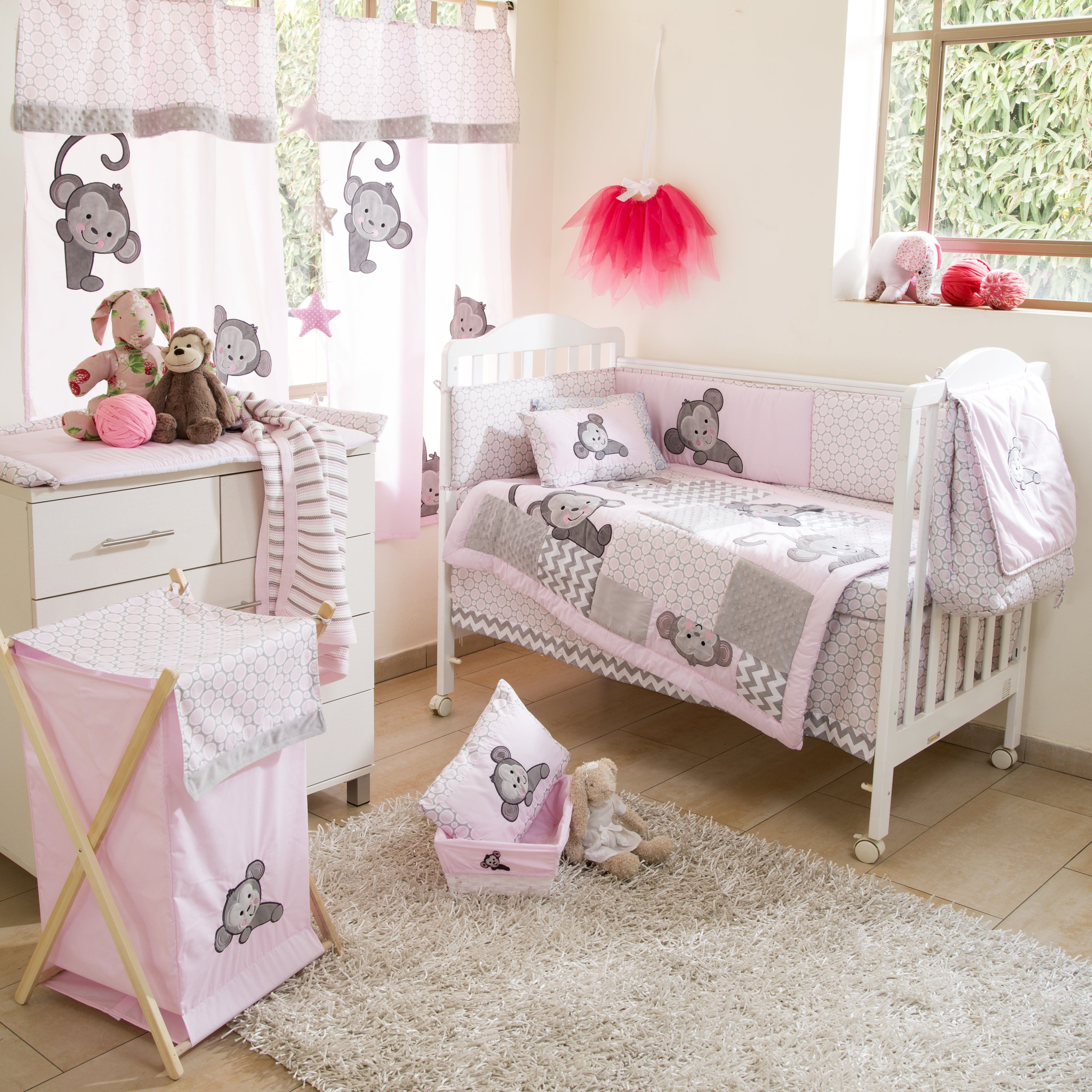 pink and for girl baby cream sets crib foodhabits info cribs set bedding brown