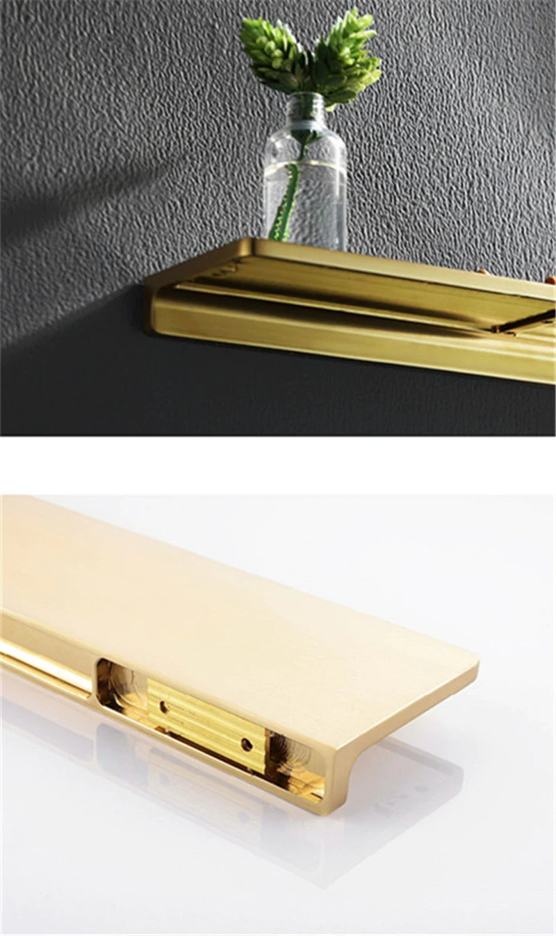 Photo of Shiny Brass Bathroom Shelf Shower Rack For Holding Towel And Accessories Polished Brass Bathroom Fixtures And Fittings