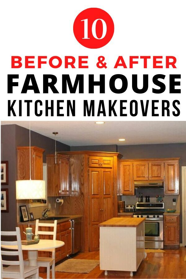 Check out these budget friendly farmhouse updates to inspire you. If you love Joanna Gaines and are dying to update your kitchen you'll find ways to make over your kitchen cabinets, counters and backsplash. #diy #kitchen #farmhouse #makeover