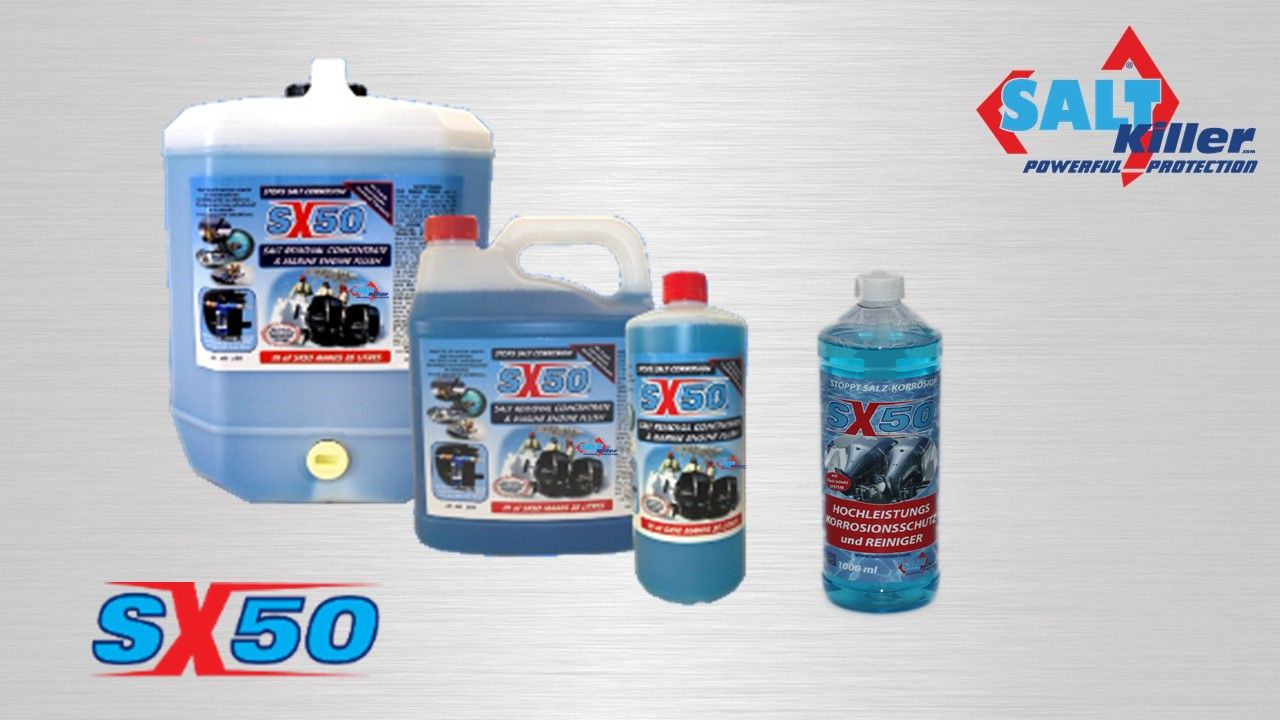 SX 50 Gebinde  10Liter Konzentrat, 4Liter Konzentrat, 1Liter Konzentrat, 1Liter Mix