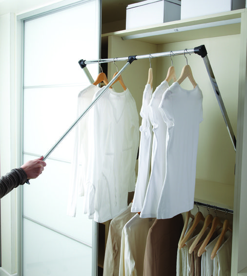 Wardrobe Hanging System By Hafele Wardrobe Design Hanging Wardrobe Wardrobe Rail