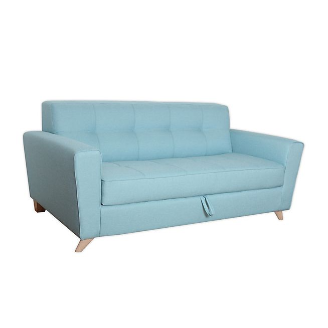 Vicky Canape Canape 3 Places Convertible Bleu Clair Cool