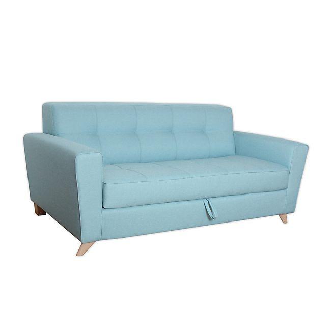 Vicky canapé | Bleu clair, Convertible et Tissu bleu