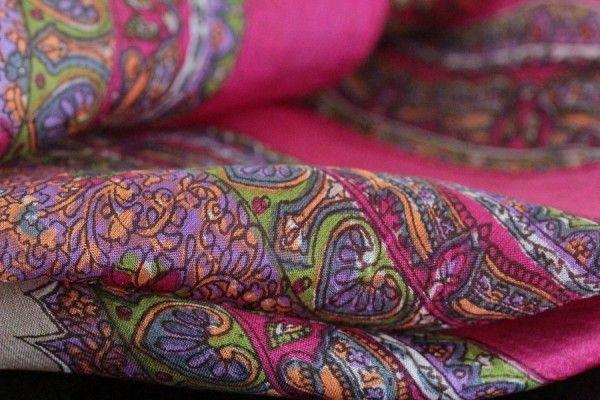 Carré en soie Darjeling - foulard indien d inde en soie, foulard carré, 80e4c0b2ad4