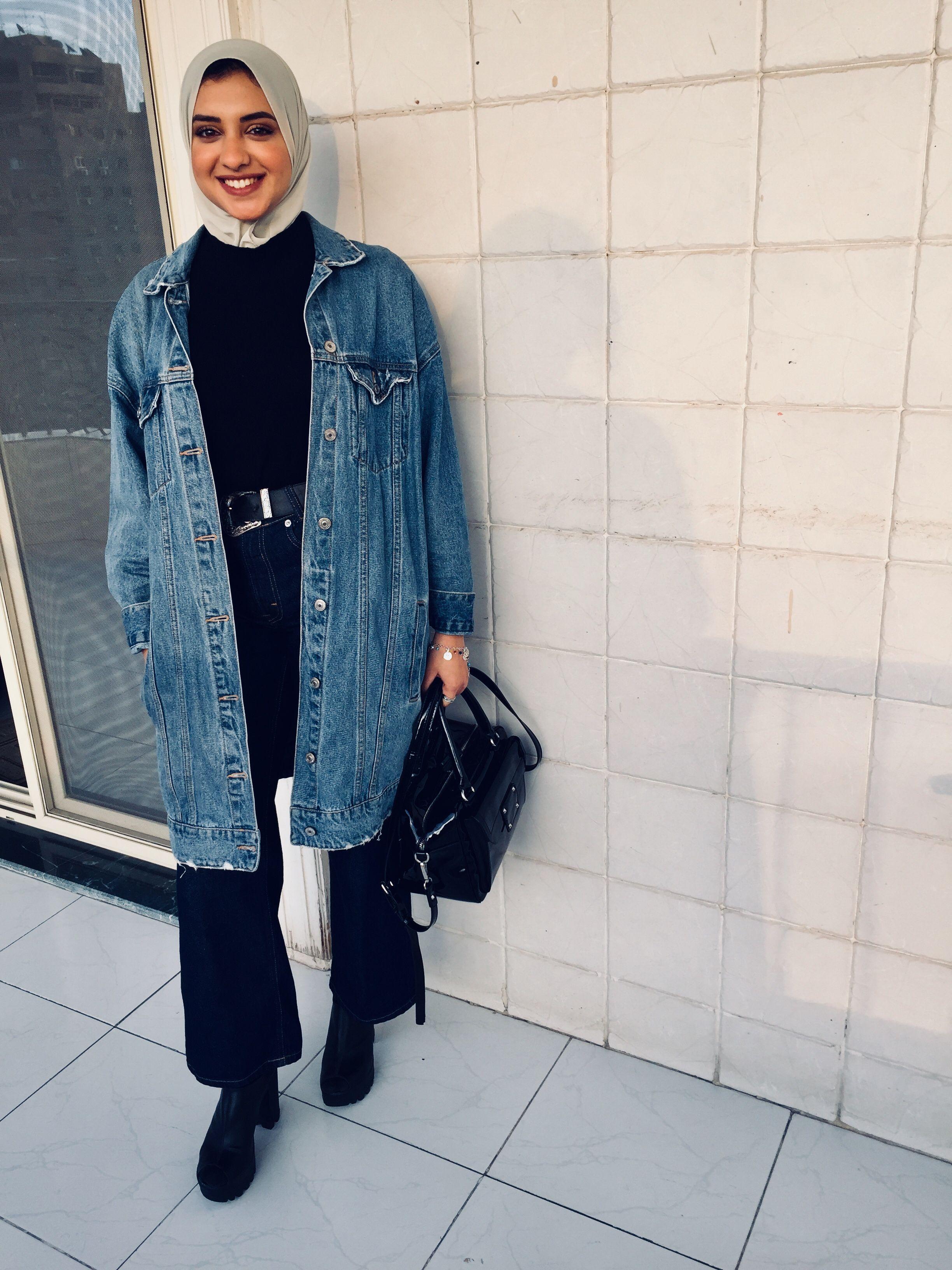 Street Style Mixandmatchyourstyle Oversize Denim Jacket Fashion