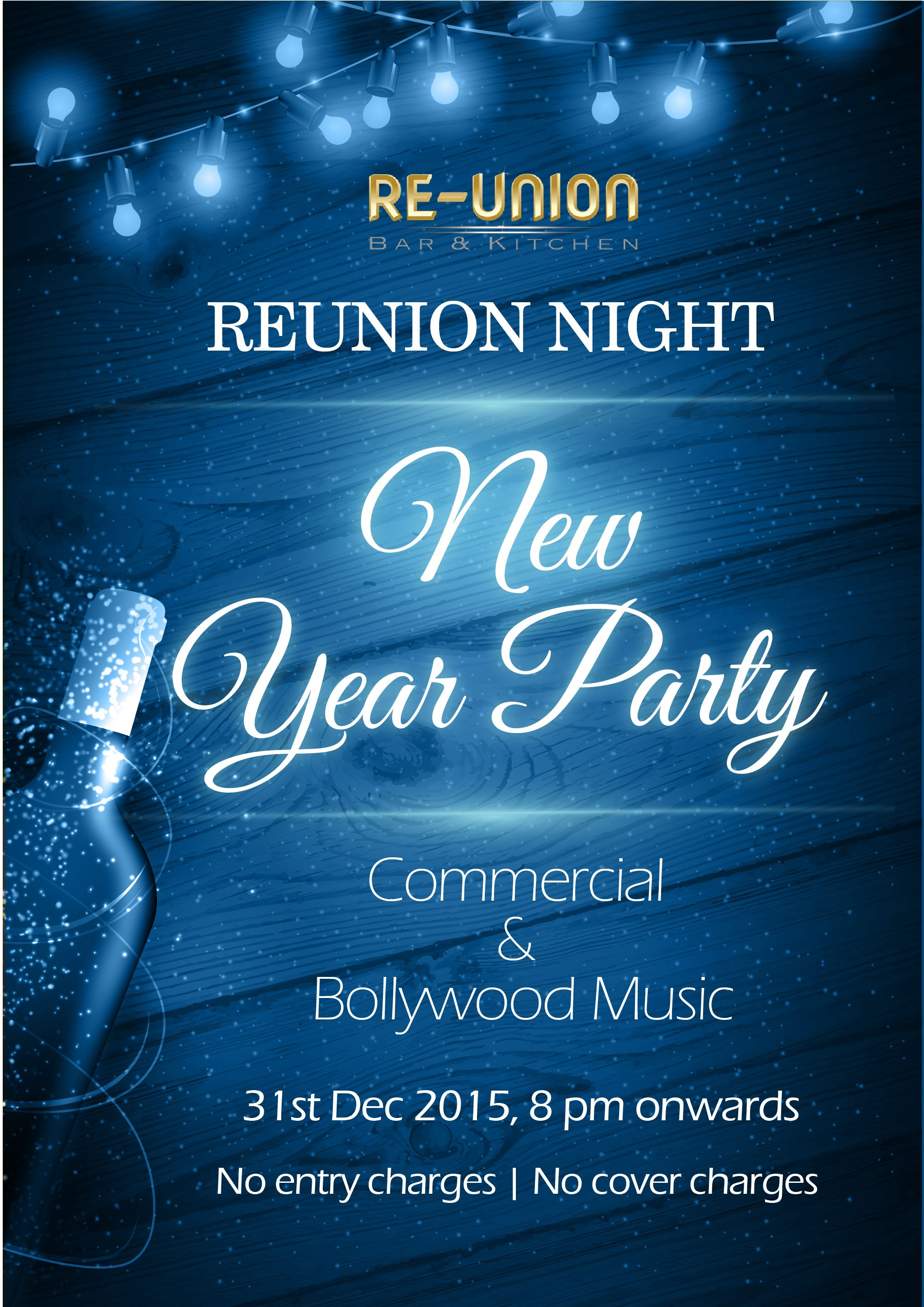 Enjoy the last day of the year to the fullest at The Reunion Bar ...