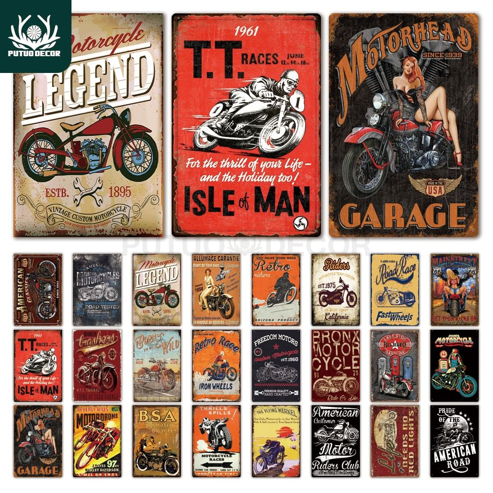 Man Cave Signs Vintage Metal Plaque Retro Tin Wall Decor Bar Pub Garage Plate