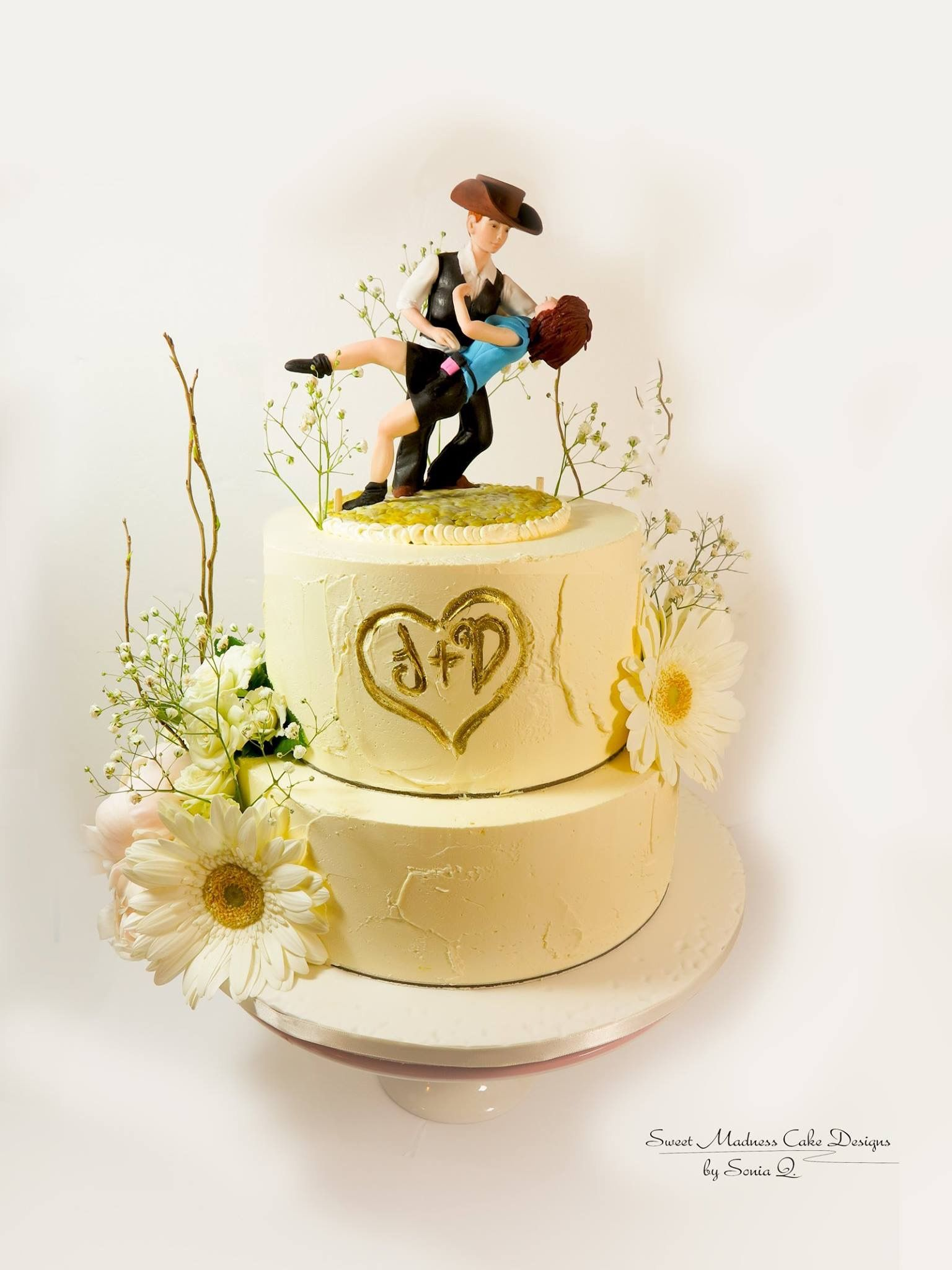 Gravity defying cake toppers | dancing couple cake topper | custom ...