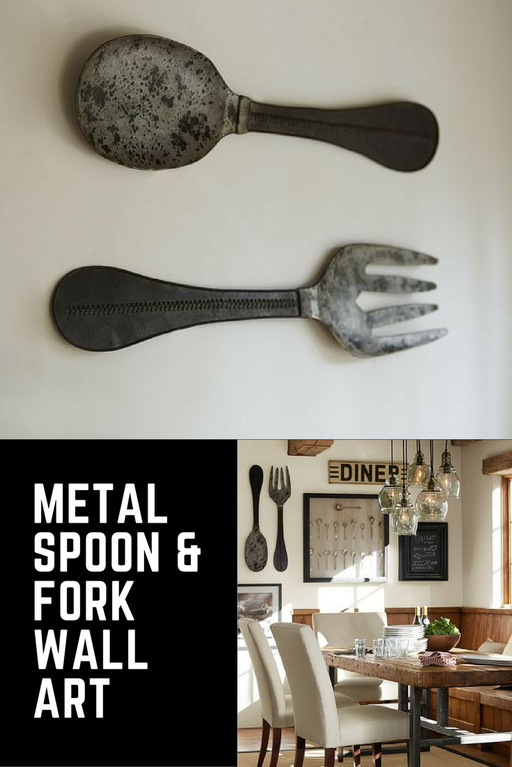 Metal Spoon Fork Wall Art From Pottery Barn This Bold Take On Familiar Forms Is Scaled Up For Style And Given An Aged Patin Thrifty Decor Pretty House Decor