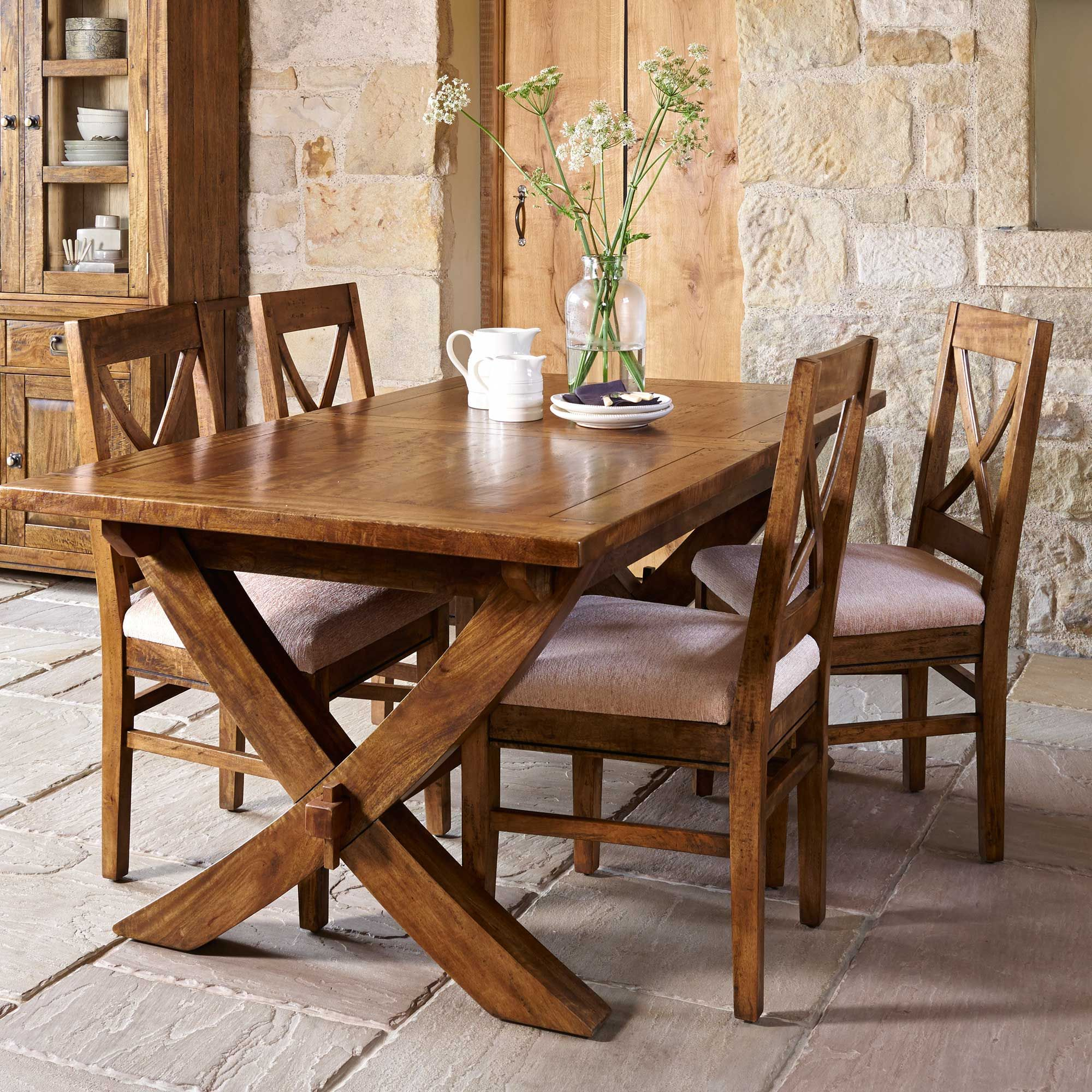 The Rustic New Frontier Dining Range Is Made From Mango Wood Which Delectable Rustic Kitchen Tables 2018