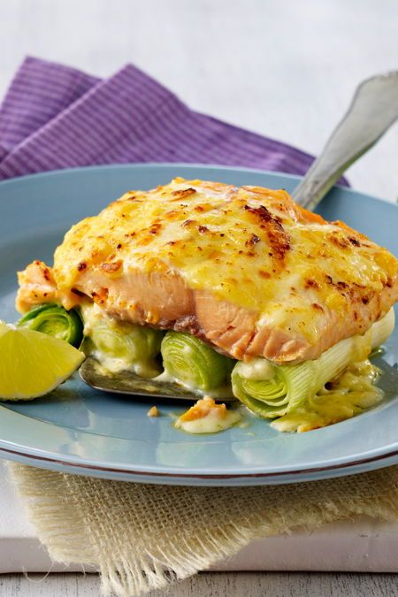 Photo of Salmon and leek bake with cheese sauce – recipe