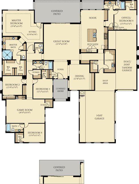 Arizona Home Design Idea Center: Lennar Esates At Layton Lakes Belmont Floor Plan 5 Bed 4.5