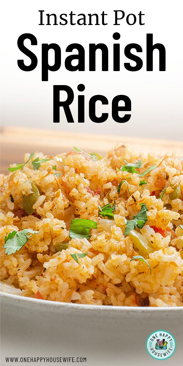 Instant Pot Spanish Rice #spanishmeals