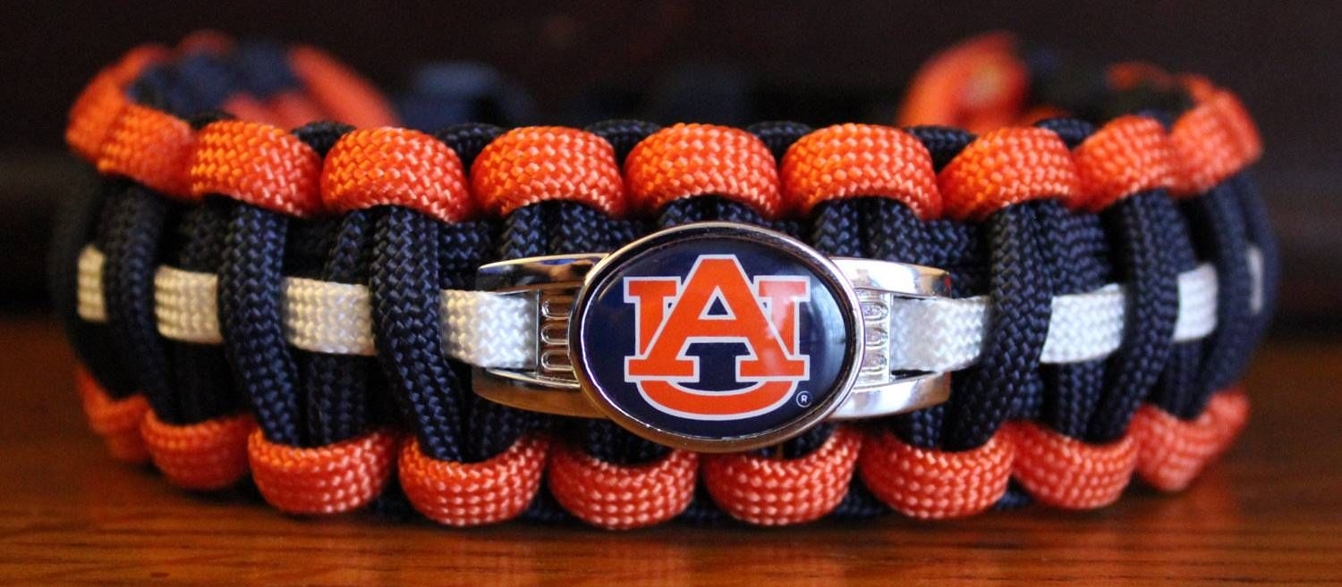 Auburn University Tigers College Paracord Bracelet With
