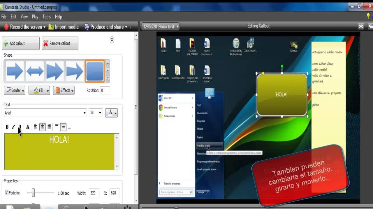 Como poner texto en camtasia studio 7 camtasia 7 pinterest studio como poner texto en camtasia studio 7 ccuart Image collections