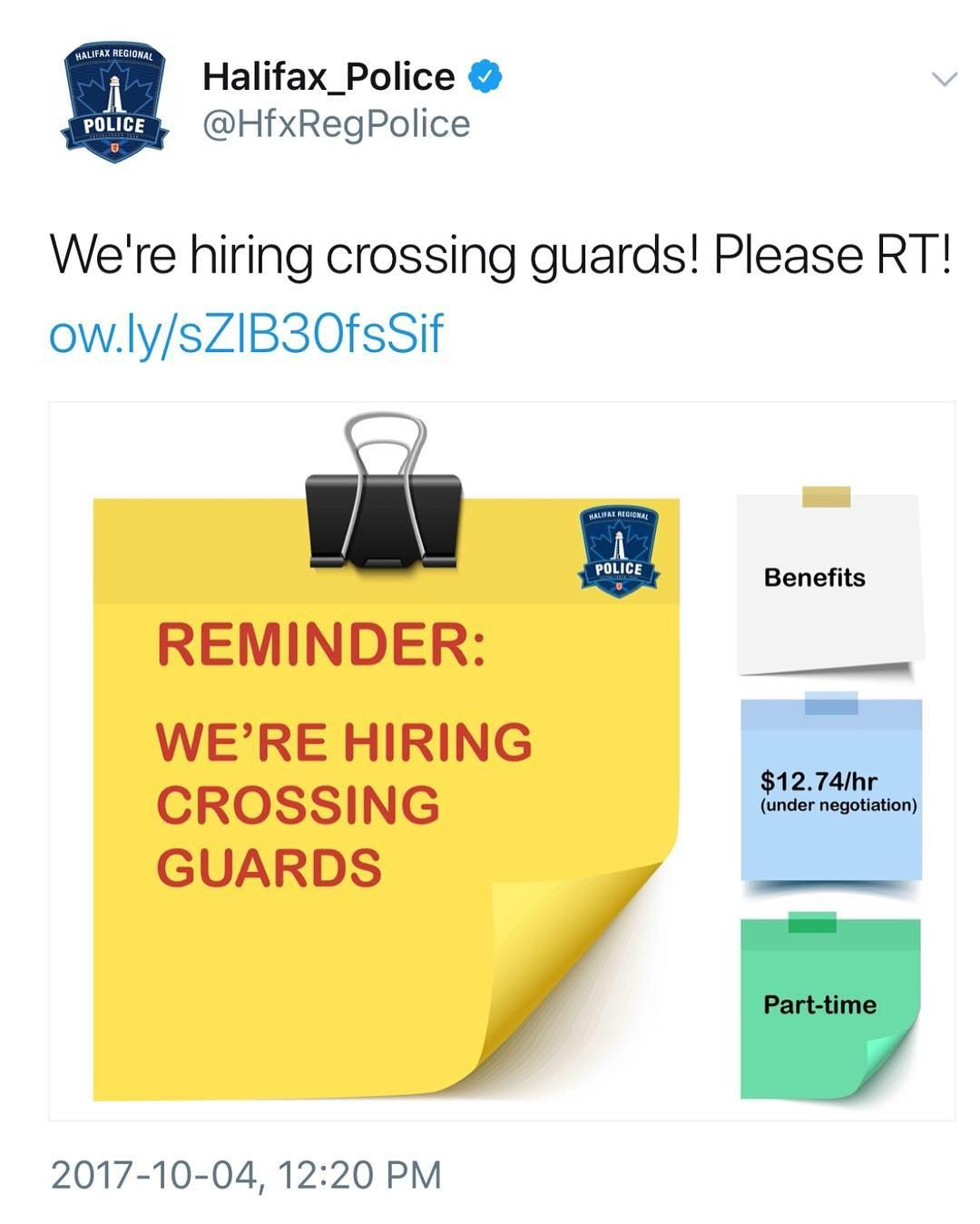 Halifax regional police is recruiting people who are
