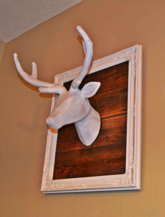 Wall Decoration Deer Head : Deer head wall mount faux taxidermy ornate by