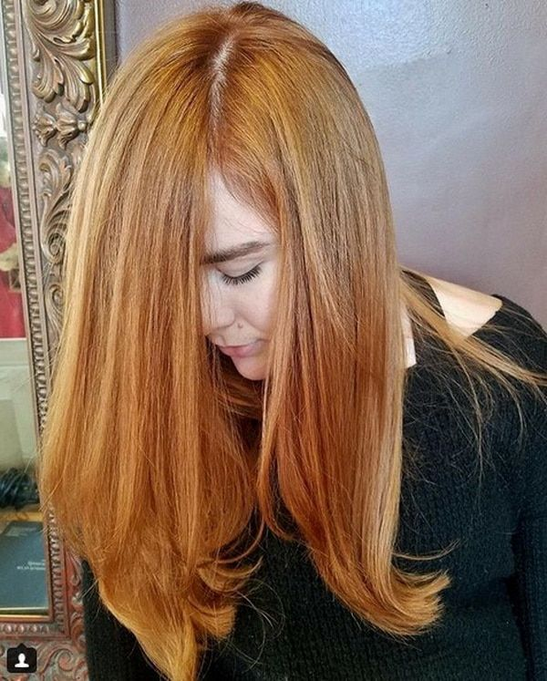Naturally Red Carrot Long Hair Color 2018 2019 Hairstyles Ideas