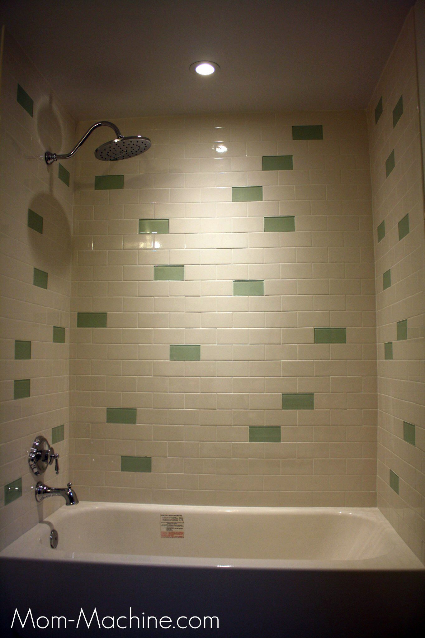 Use white glass tile to match current backsplash also hall bath pinterest
