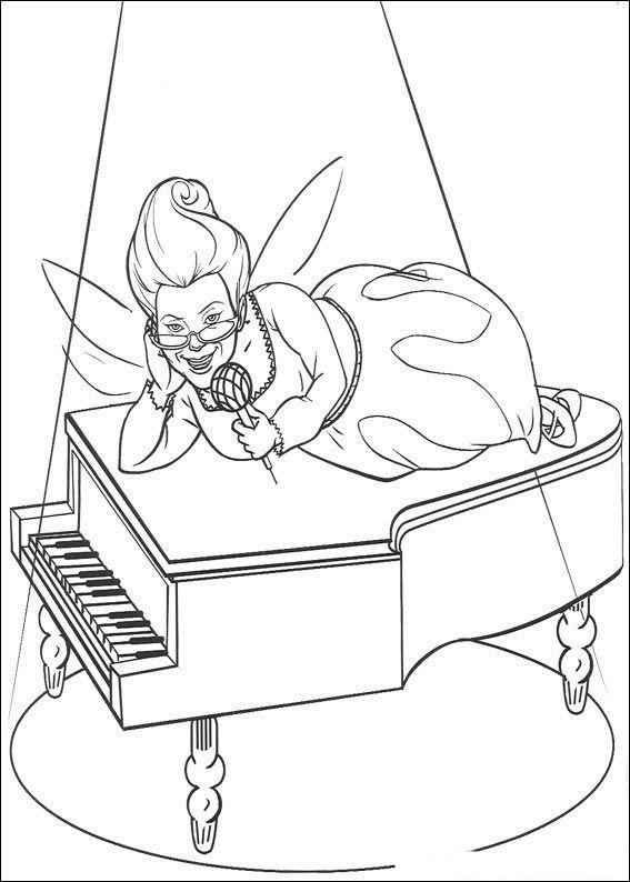 Shrek Tegninger til Farvelægning. Printbare Farvelægning for børn. Tegninger til udskriv og farve nº 69