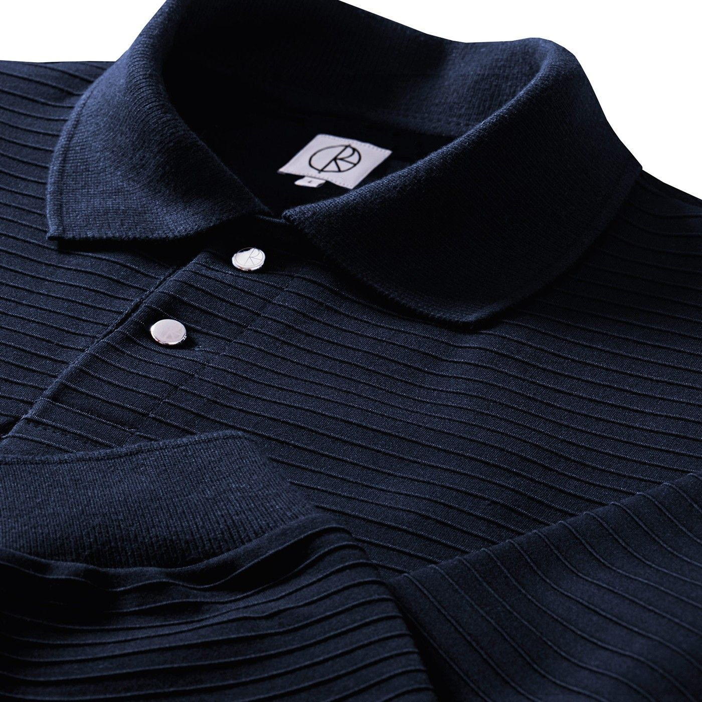 Striped Pique Shirt in Navy by Polar Skate Co