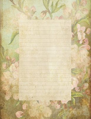 Lilac  Lavender Antiqued Lined Paper  Stationery