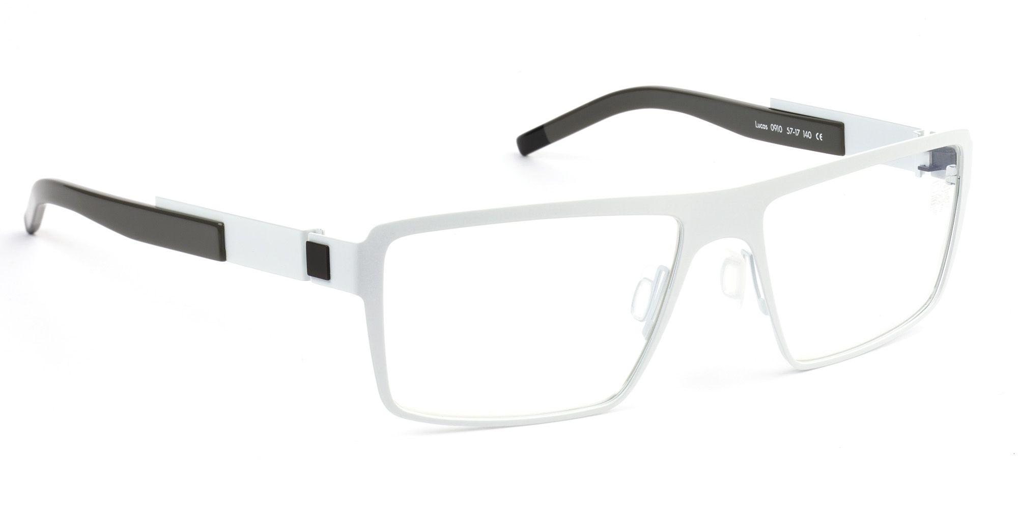 155a973bc497 De Stijl Holland 1924 eyewear  men eyeglasses frame LUCAS in matte white  metal 0910   discontinued color as of Nov 2013