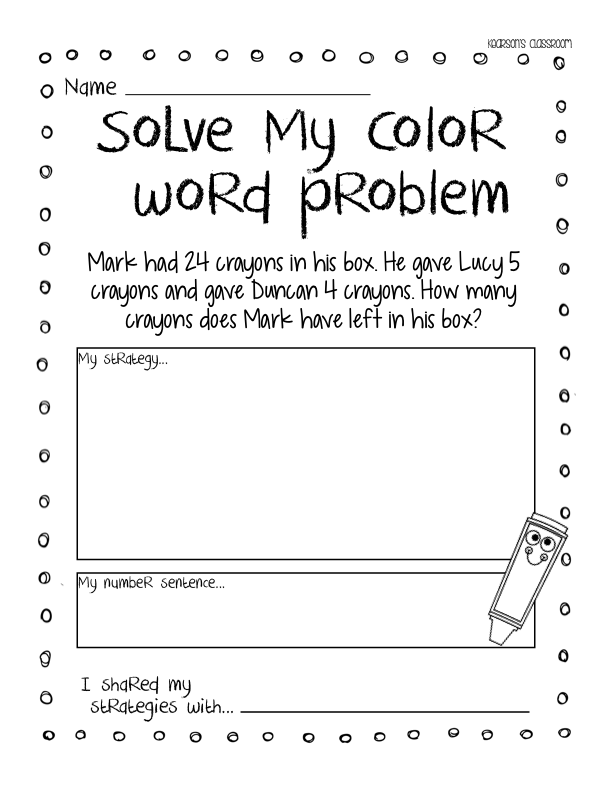 Kearson S Classroom The Day The Crayons Quit Persuasive Writing Graphing Activities Word Problems