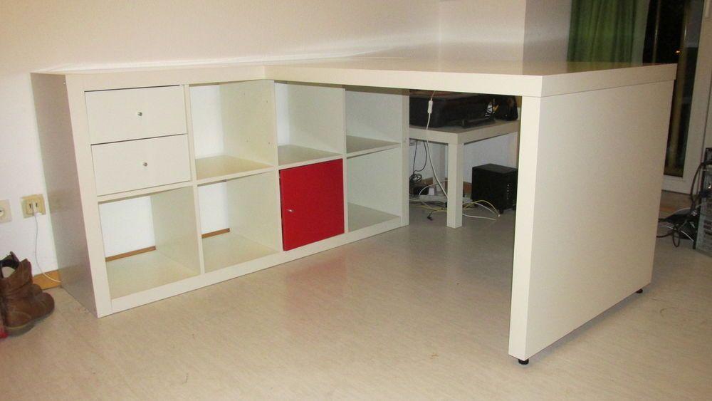 Ikea Expedit 8 Kasten Regal Schreibtisch Regal Schreibtisch