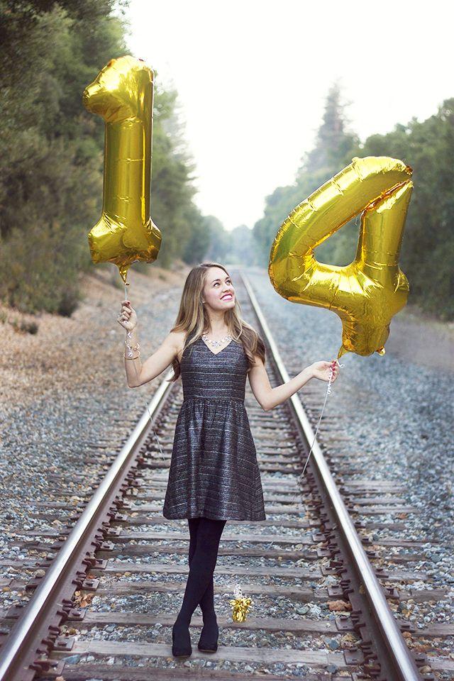 Little Black Dress, Gold Heels & 2014 Goals Girl senior