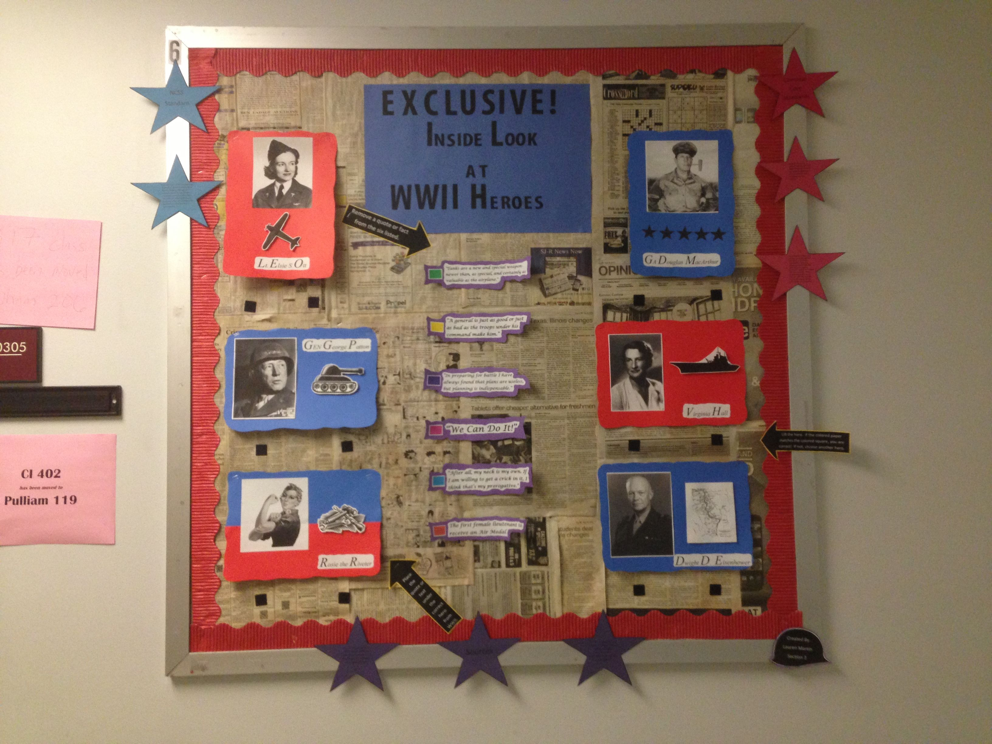 Social Studies Classroom Decoration Ideas ~ Social studies bulletin board wwii classroom decor