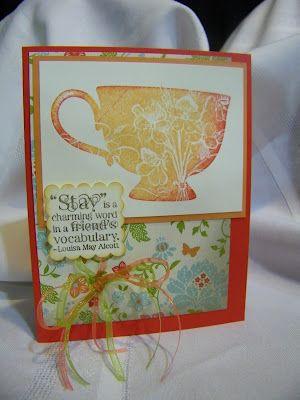 Stampin Up tea