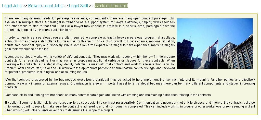 Search for Contract Paralegal Jobs on LawCrossing Search