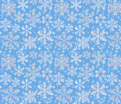 snowflakes_1 fabric by stella12 on Spoonflower - custom fabric