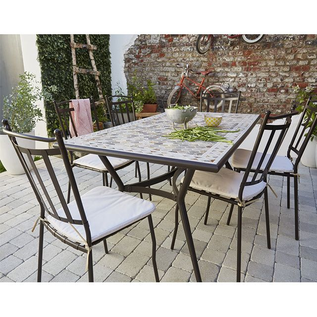 table de jardin sofia 160 x 90 cm table de jardin castorama et table. Black Bedroom Furniture Sets. Home Design Ideas