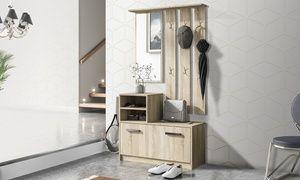 Credenza Moderna Groupon : Groupon set di mobili da ingresso composto specchio