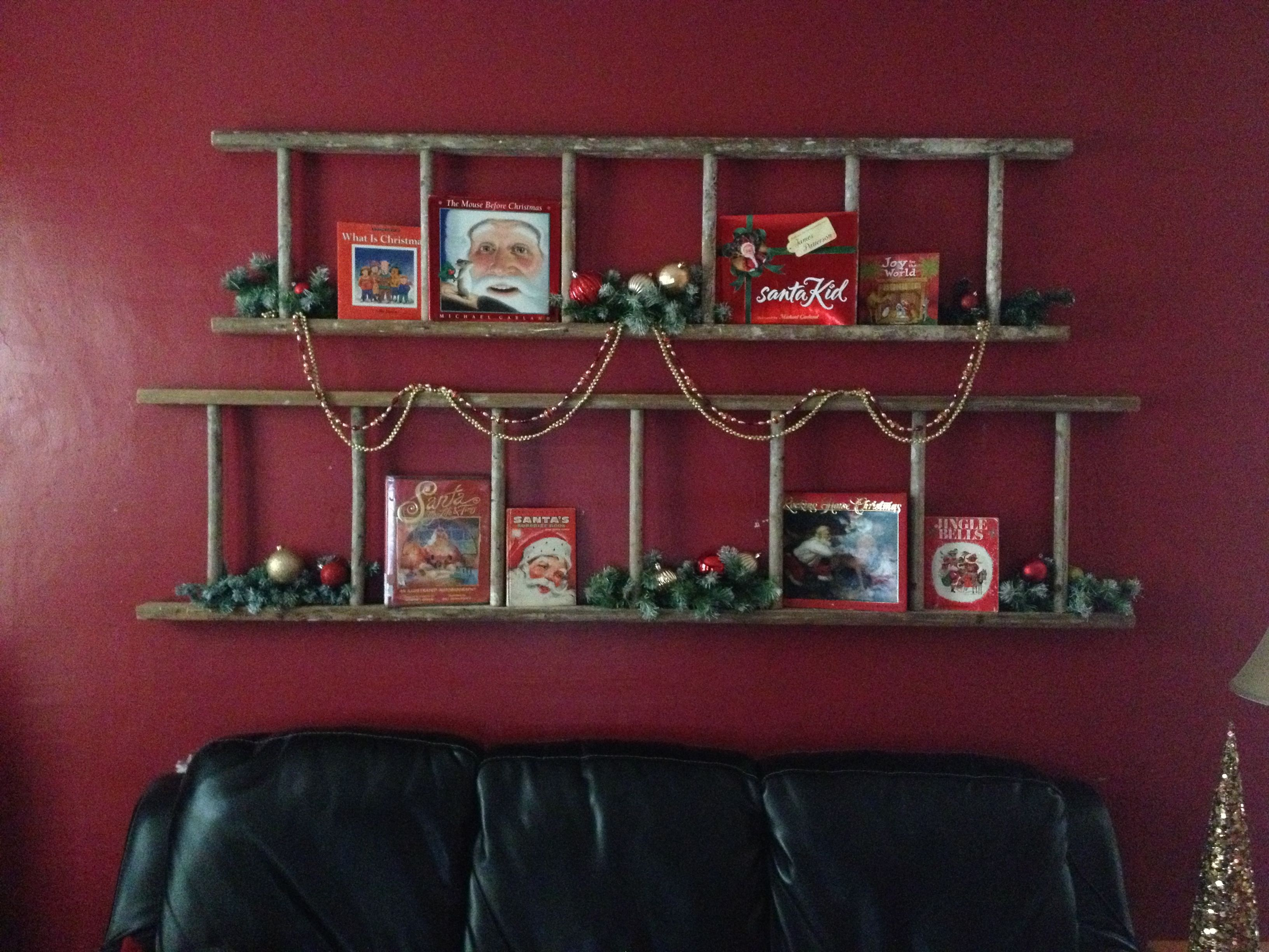 Wanddeko Schlafzimmer Selbstgemacht Christmas Ladder Decoration Living Room