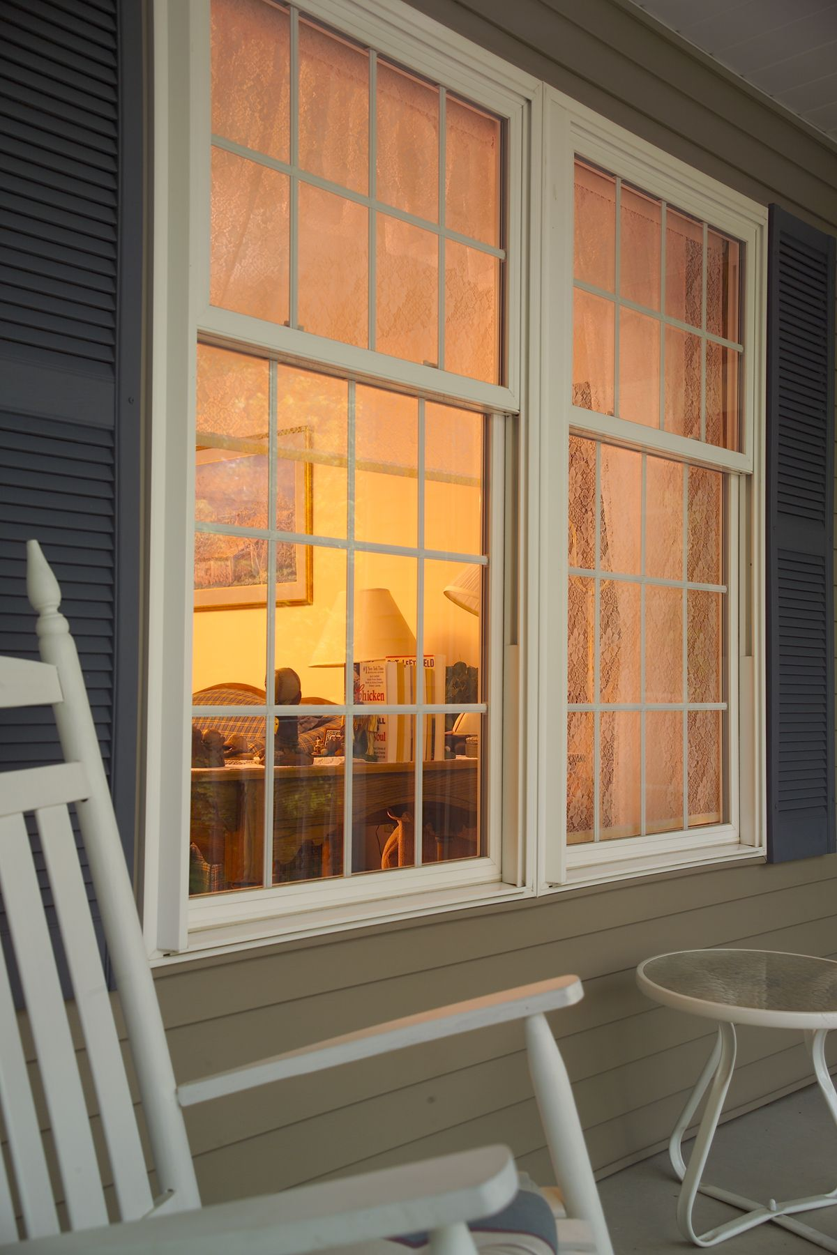 oriel style double hung windows in soft white http www gorell com