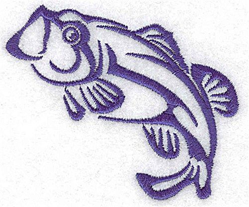 Bass Fish Embroidery Design Fish Patterns Bass And Fish