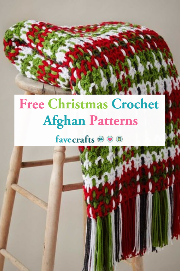 25 Free Christmas Crochet Afghan Patterns #afghanpatterns