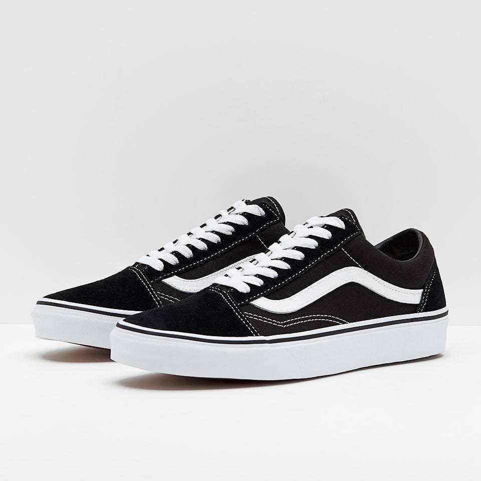 Men Vans Old Skool Skate Black Original Shoes Shoes Classic canvas ...
