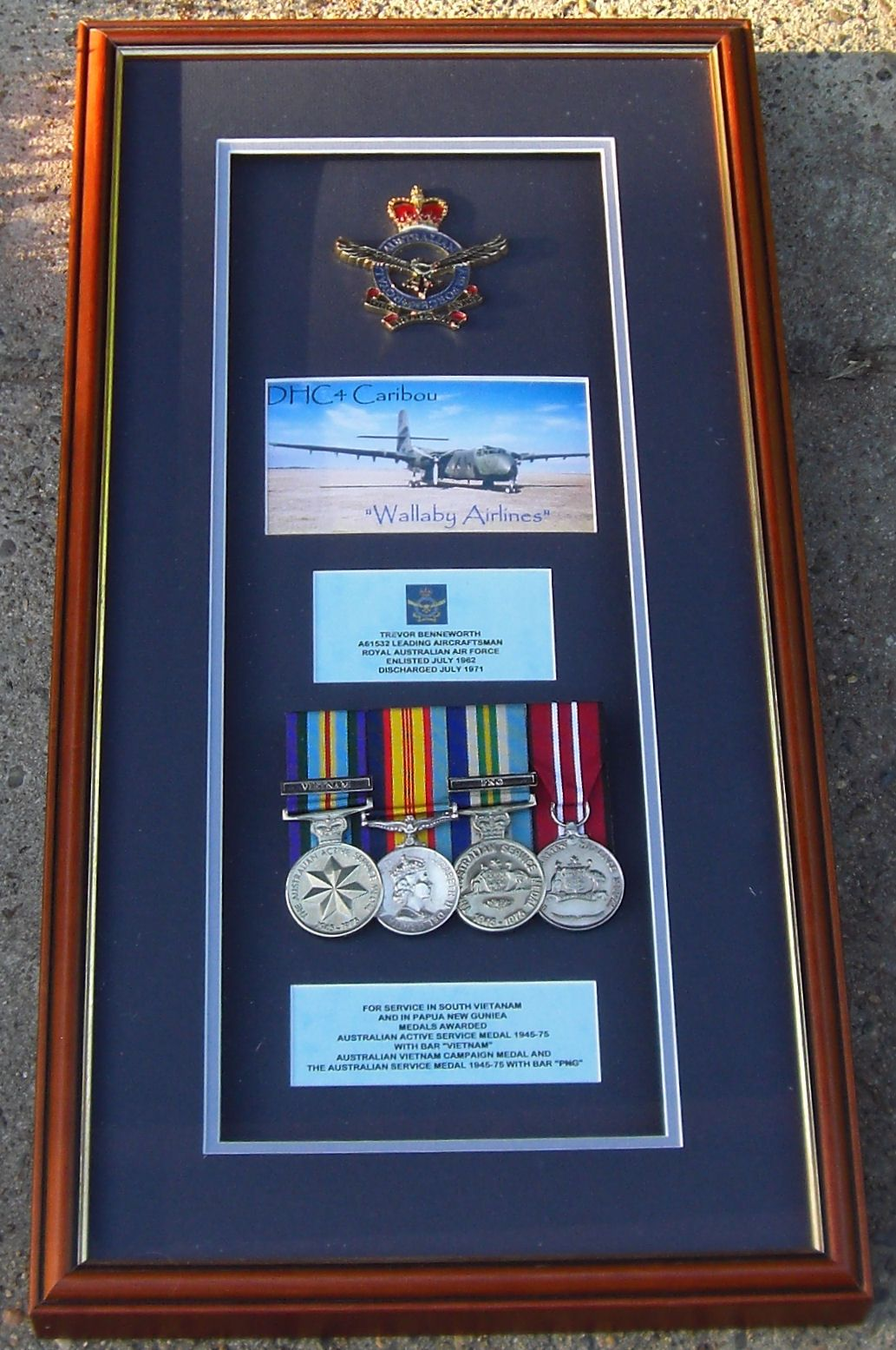 Mounted medals Military shadow box, Shadow box, Picture